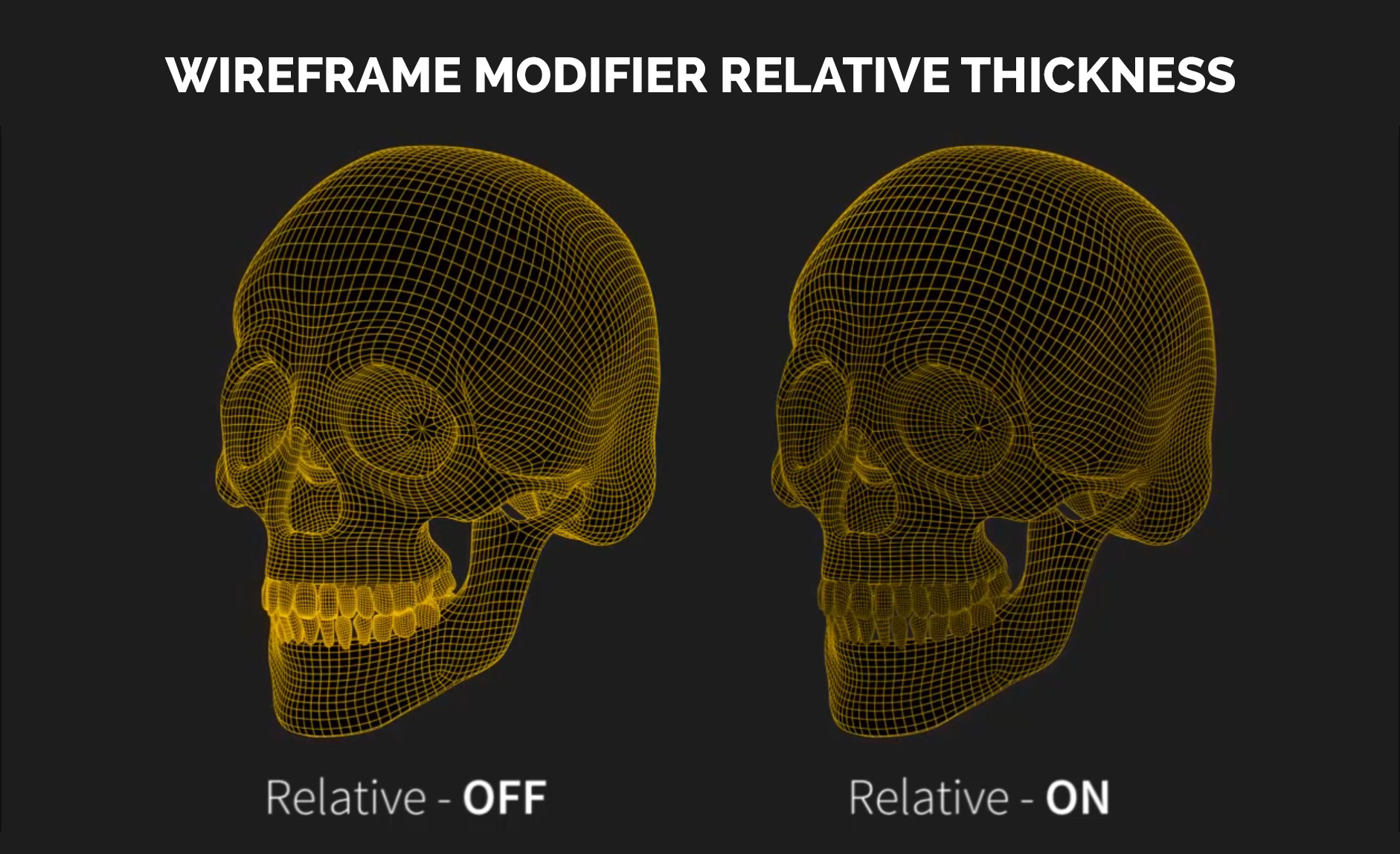 blender wireframe modifier relative thickness