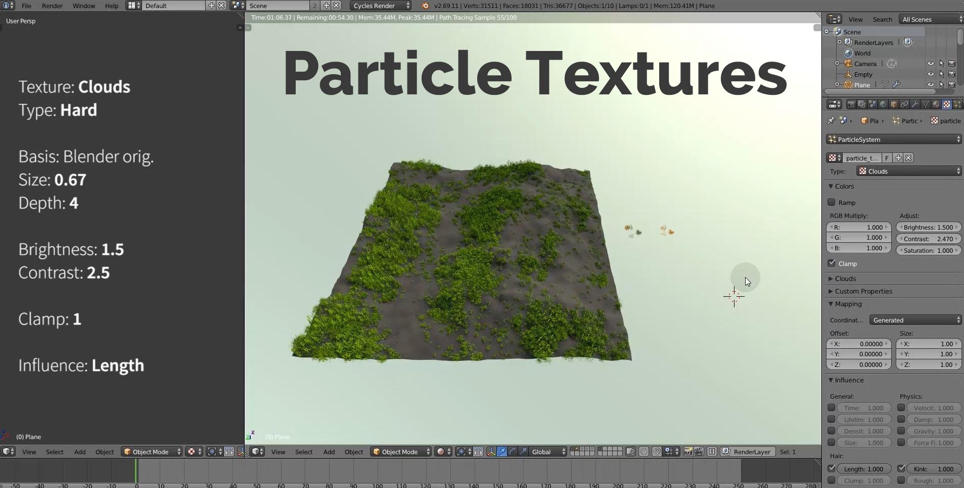 blender particle textures