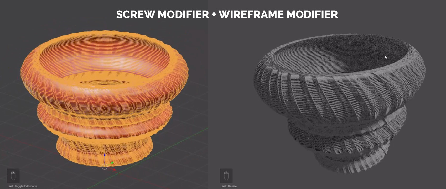 blender screw modifier wireframe