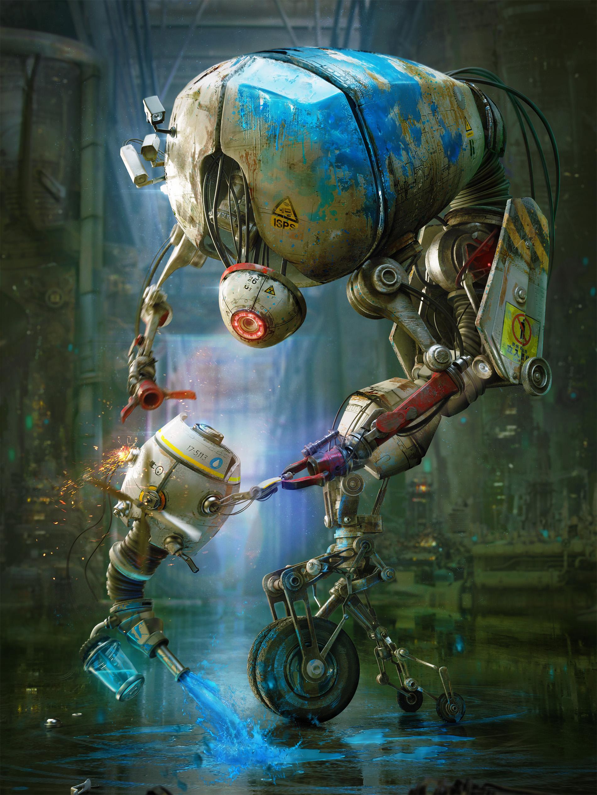 robots render