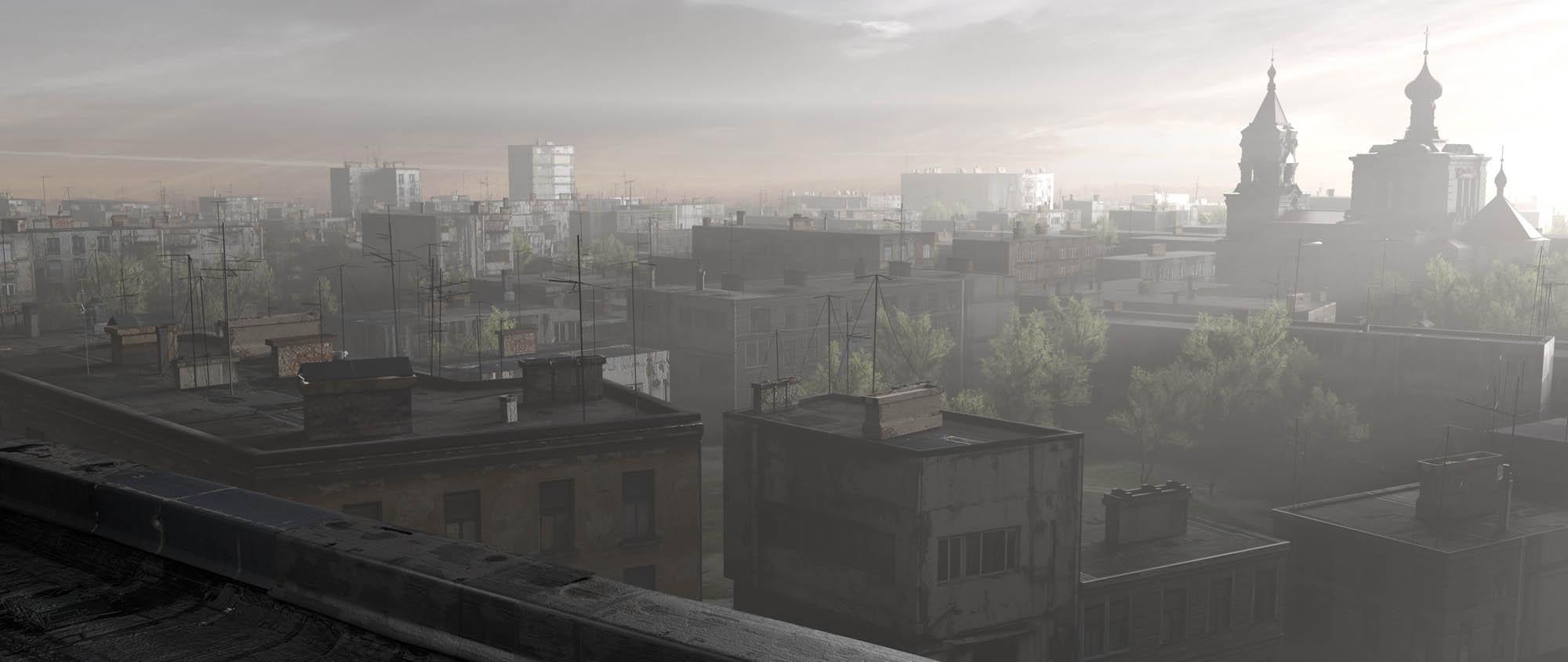 3d city in Blender