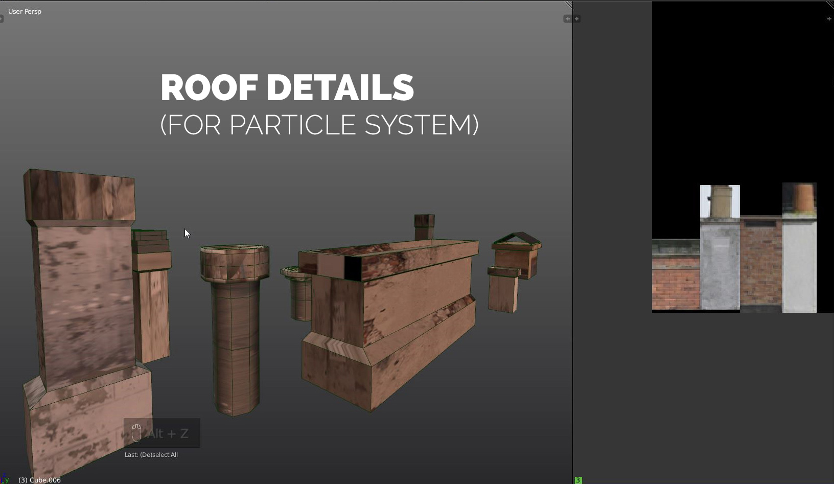 particle system roof details