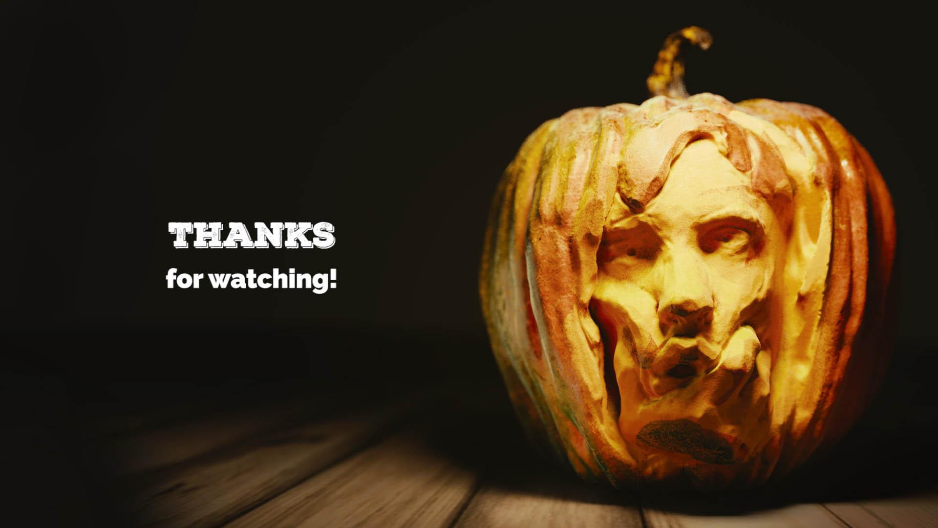 3d pumpkin render