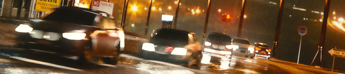 lighting cars night