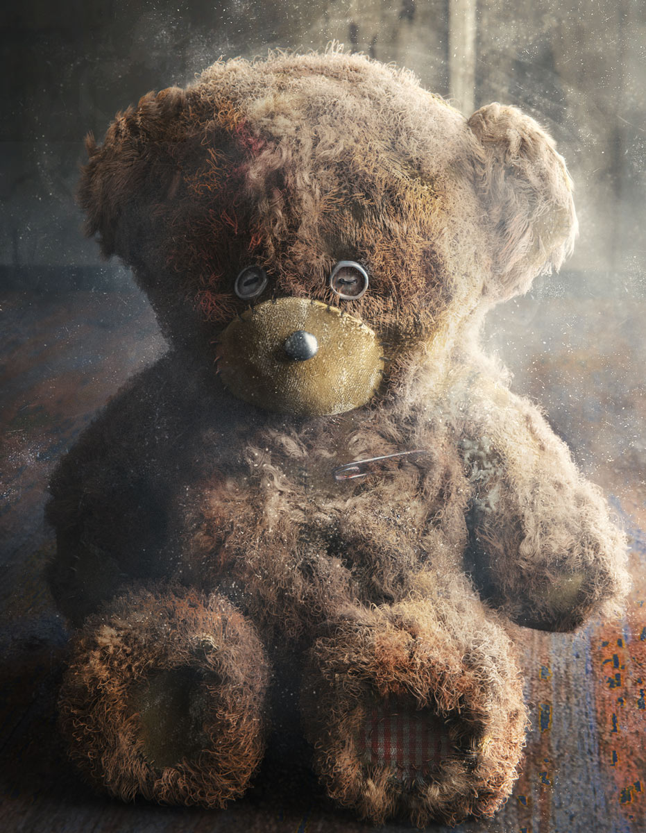 teddy bear render blender