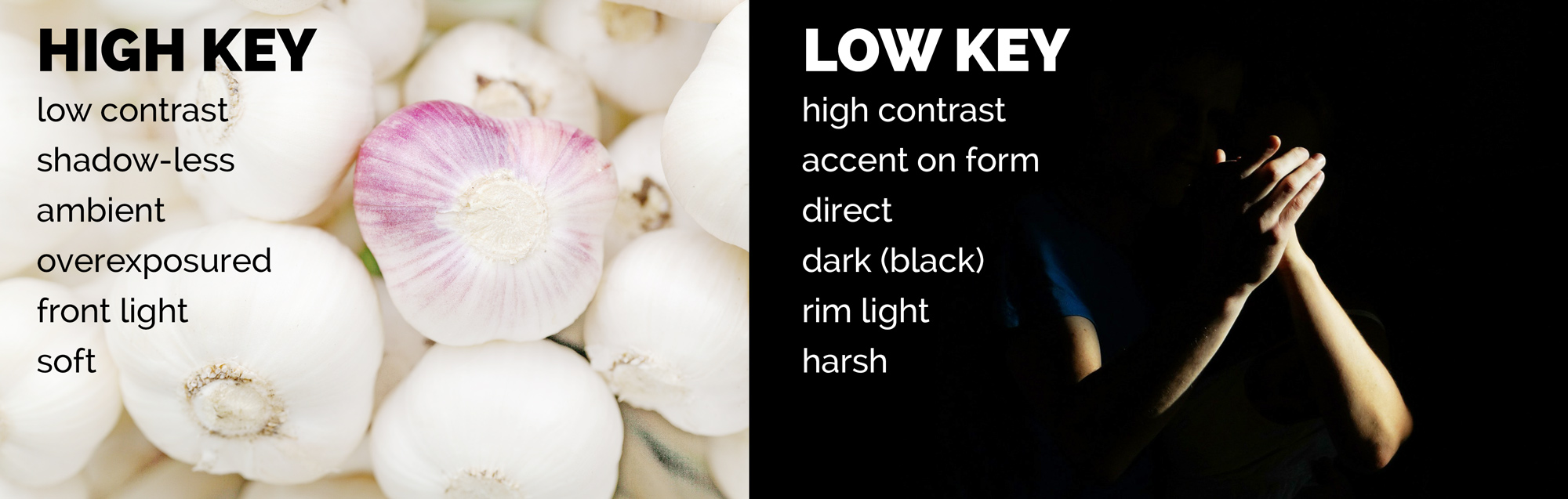 high key lighting vs low key lighting