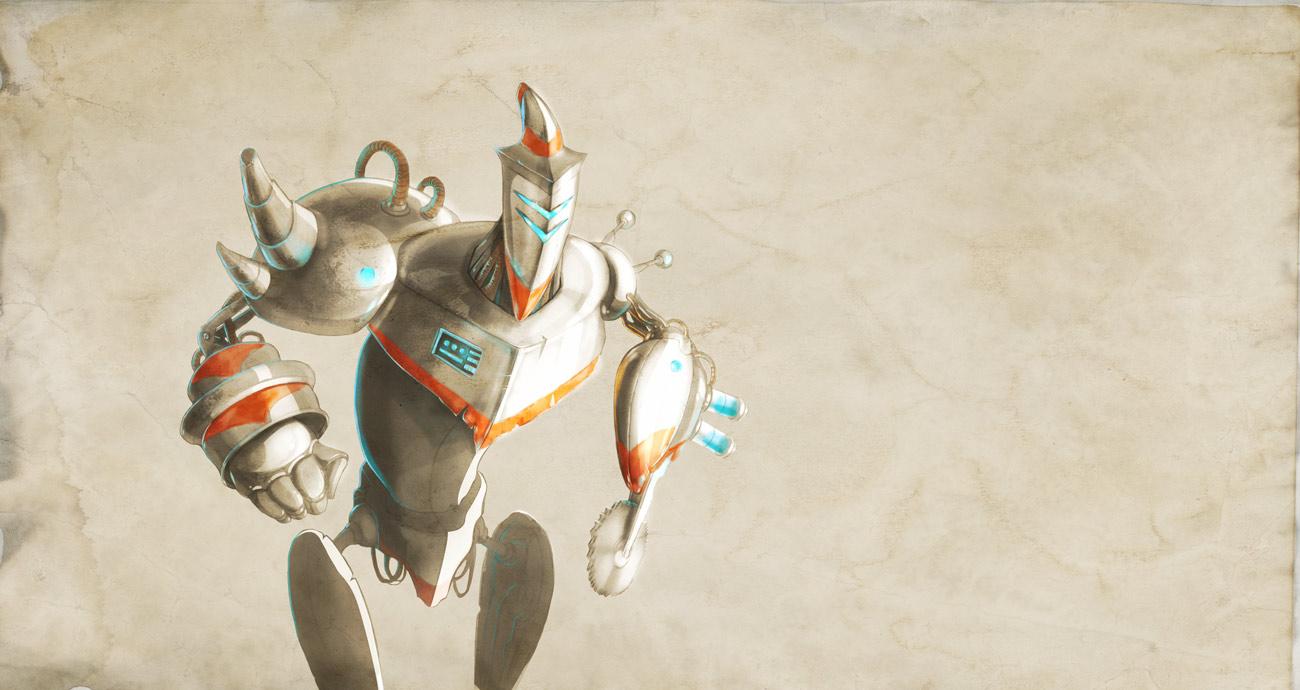 alchemy tutorial robot concept art