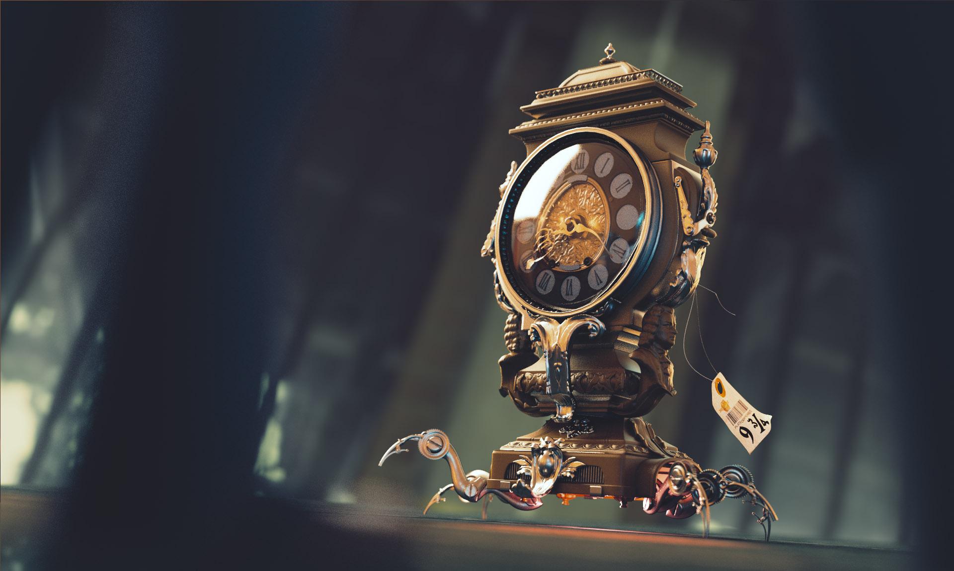 harry potter magical clock