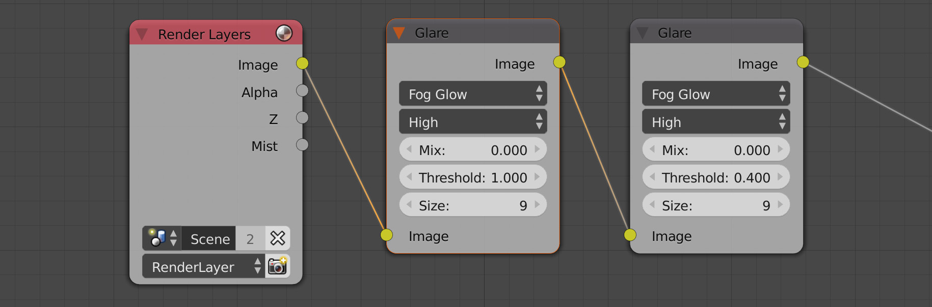 glare glow blender compositor