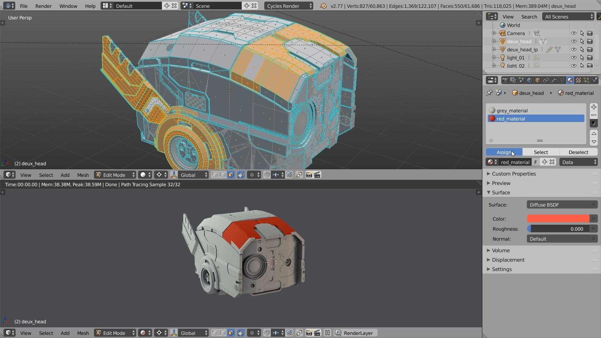 texturing by poligons blender