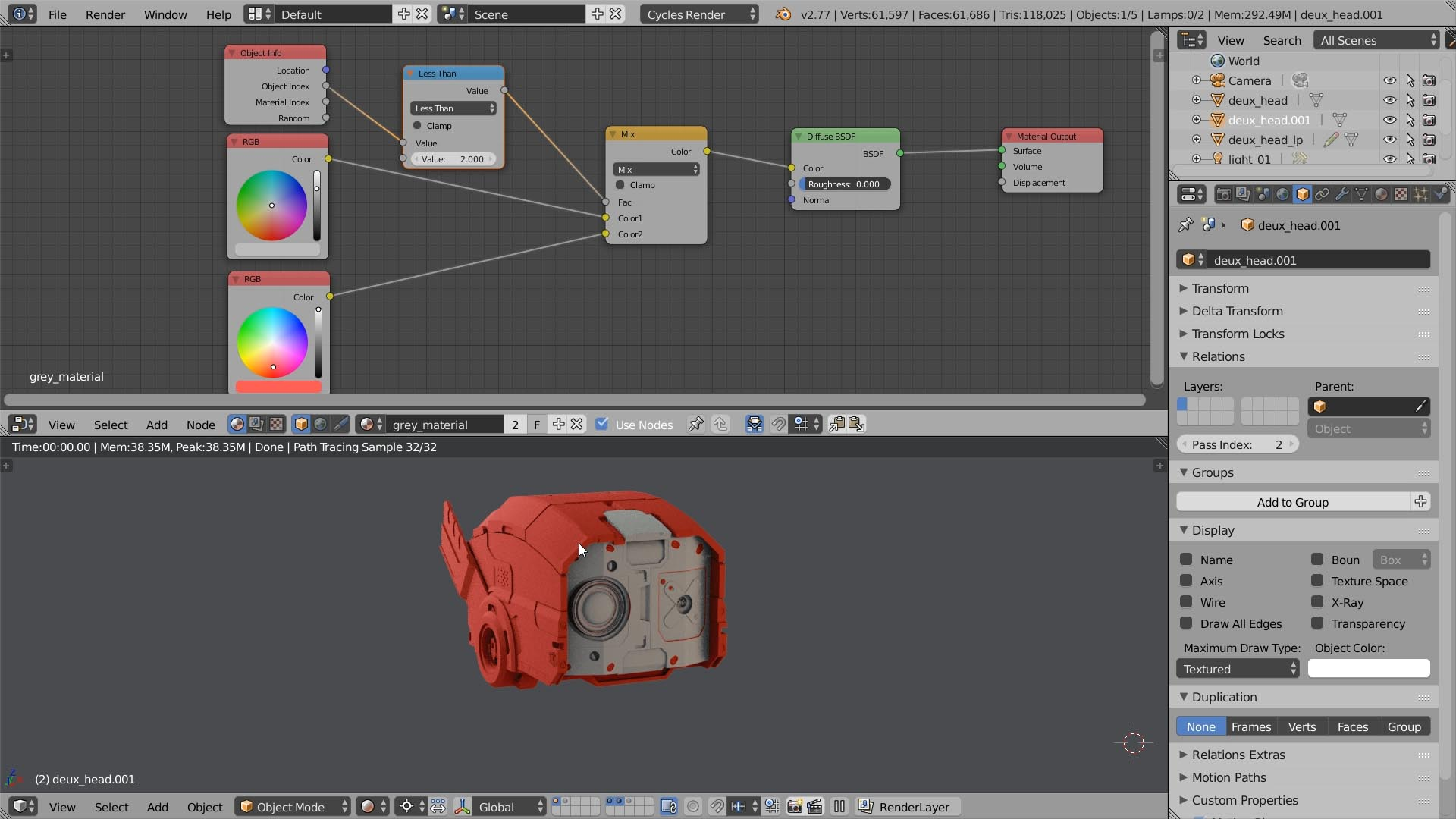 texturing by object id
