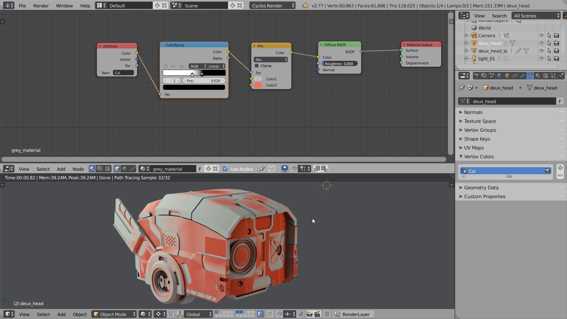 texturing tutorial vertex color