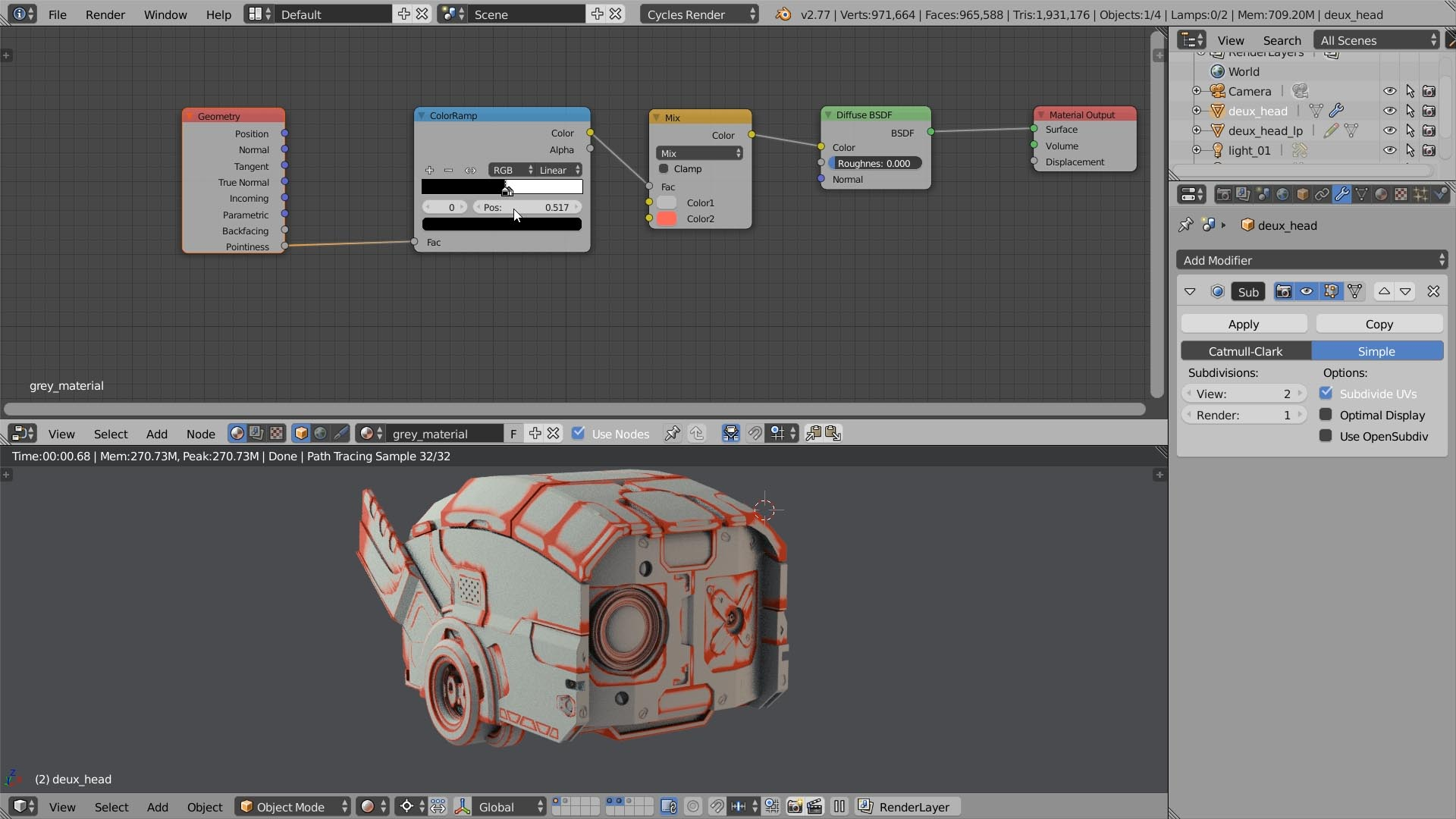 shader pointiness blender