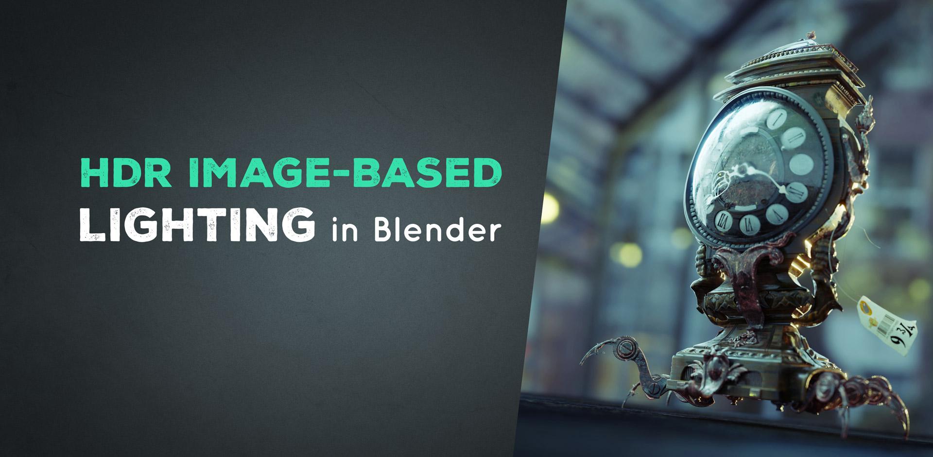 hdr lighting blender tutorial