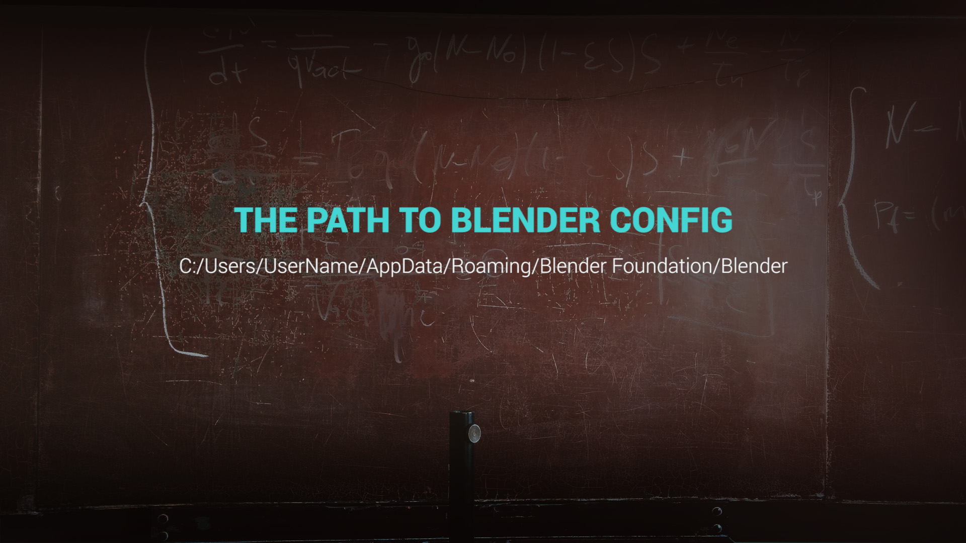path to blender config windows