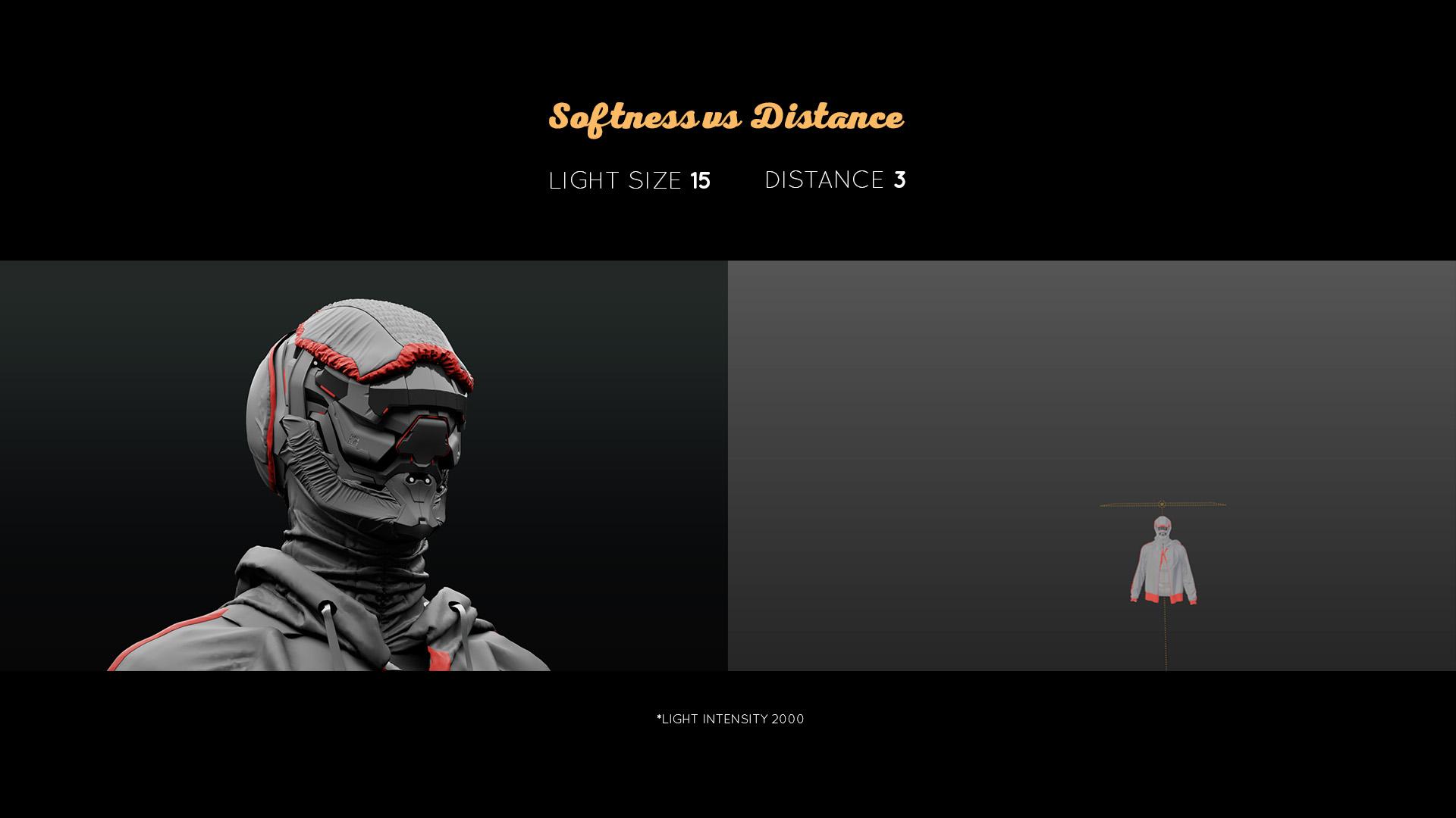 lighting tutorial softness vs distance