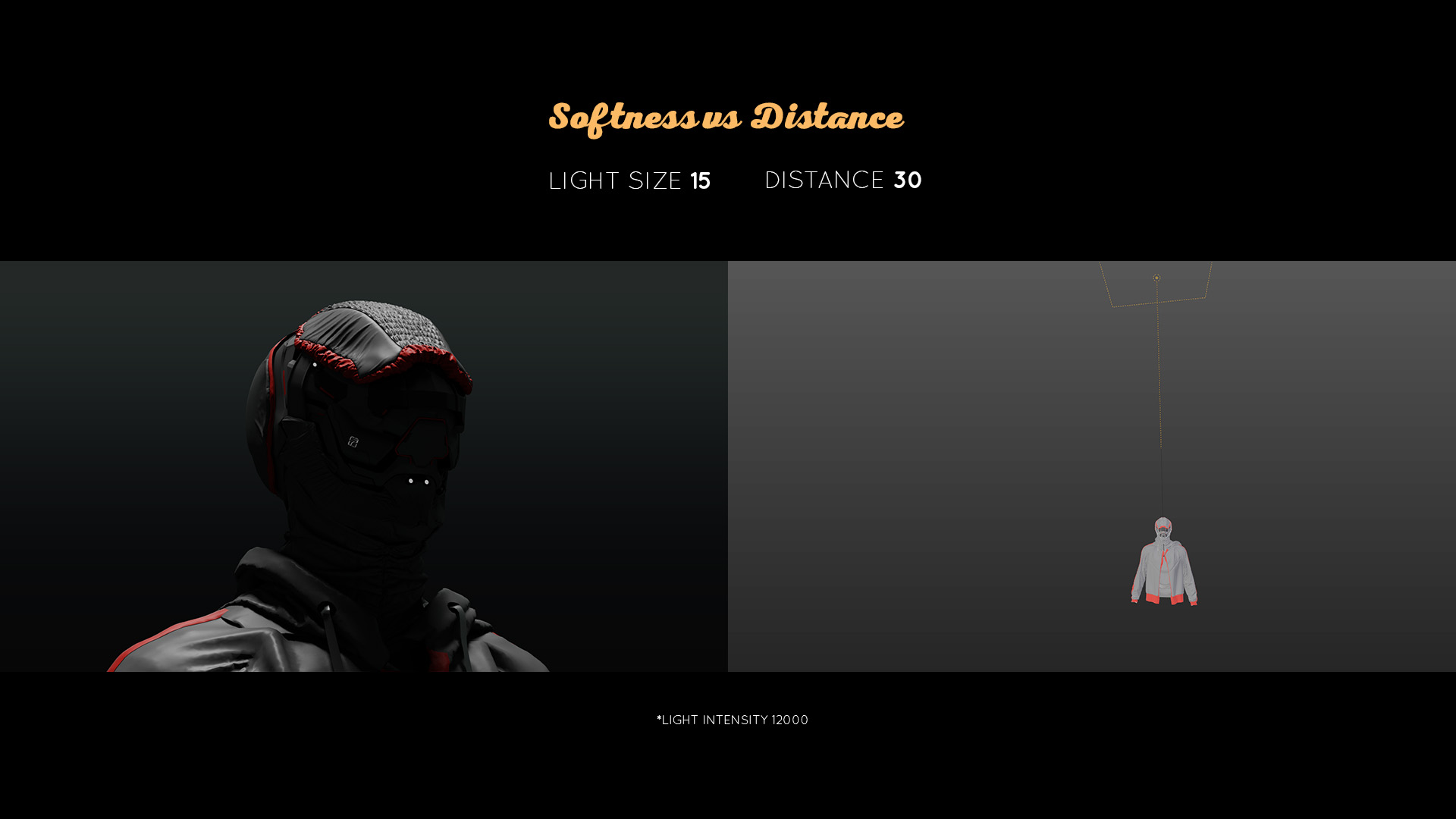 lighting tutorial softness vs distance 2