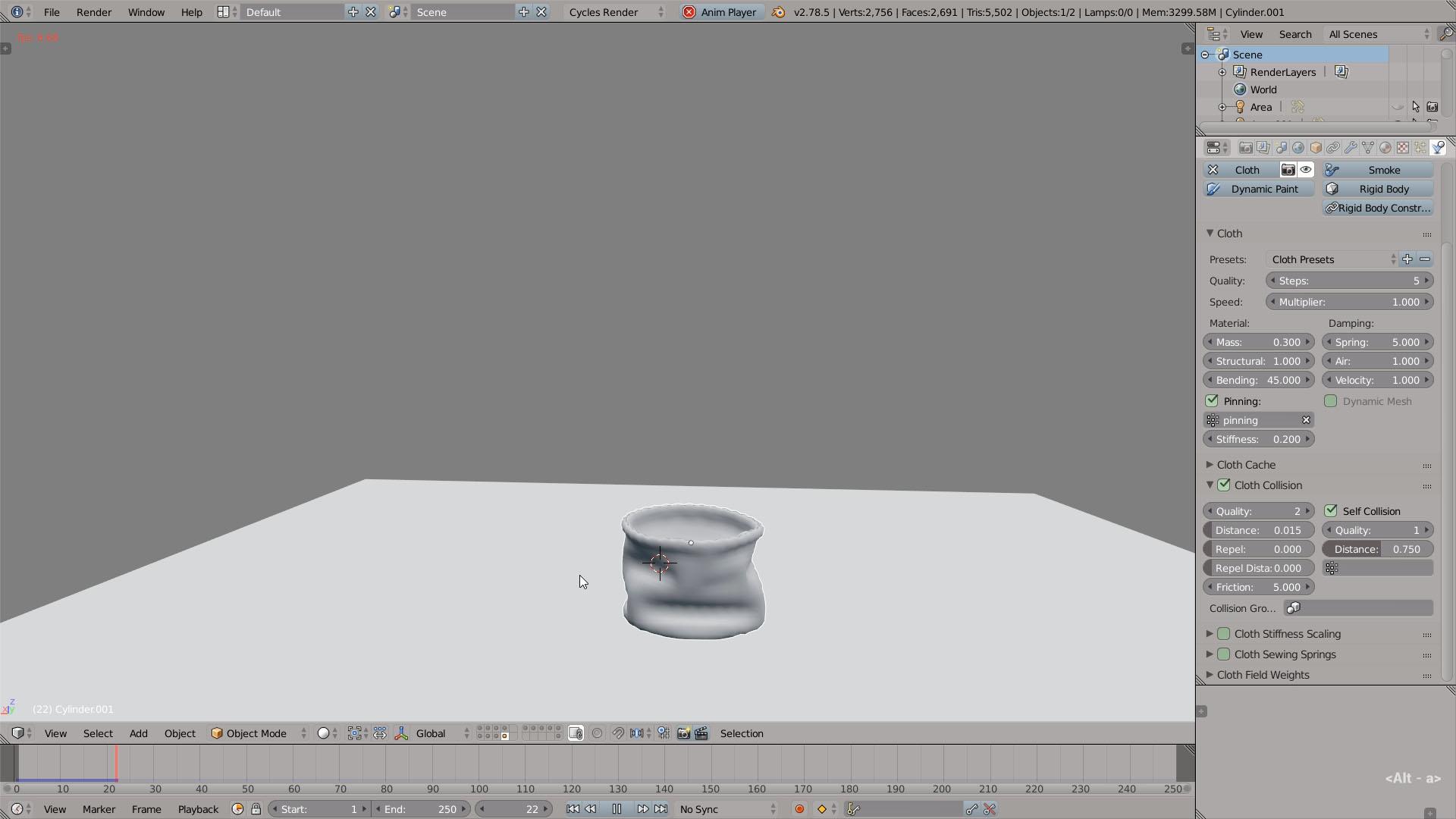 cloth simulation tutorial blender