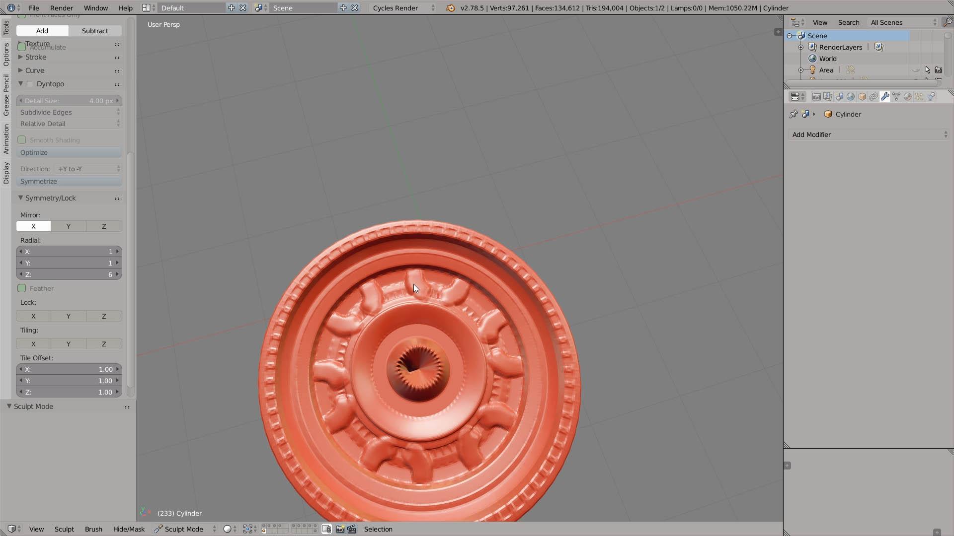 radial symmetry sculpting blender