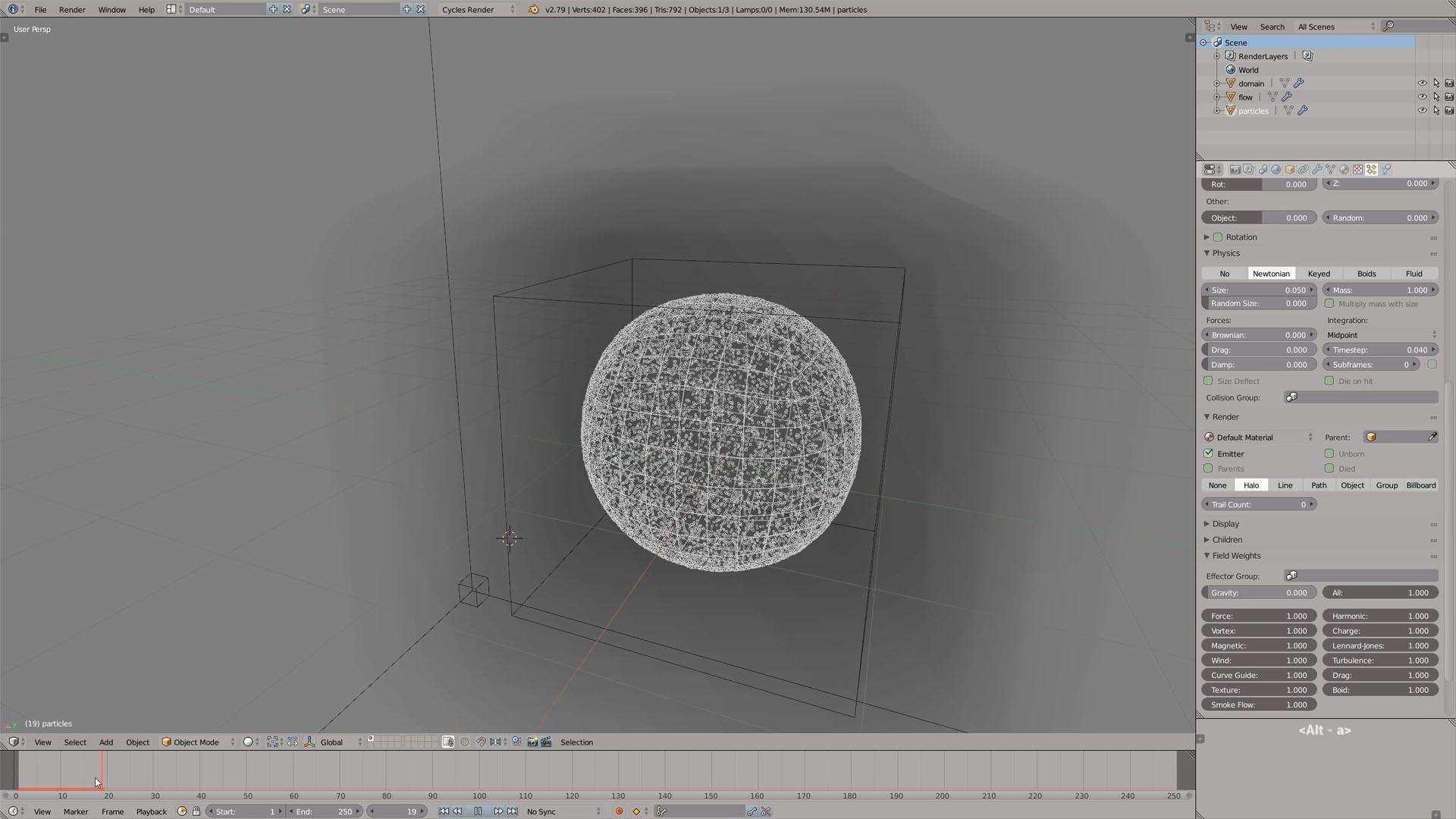 blender tutorial particle system