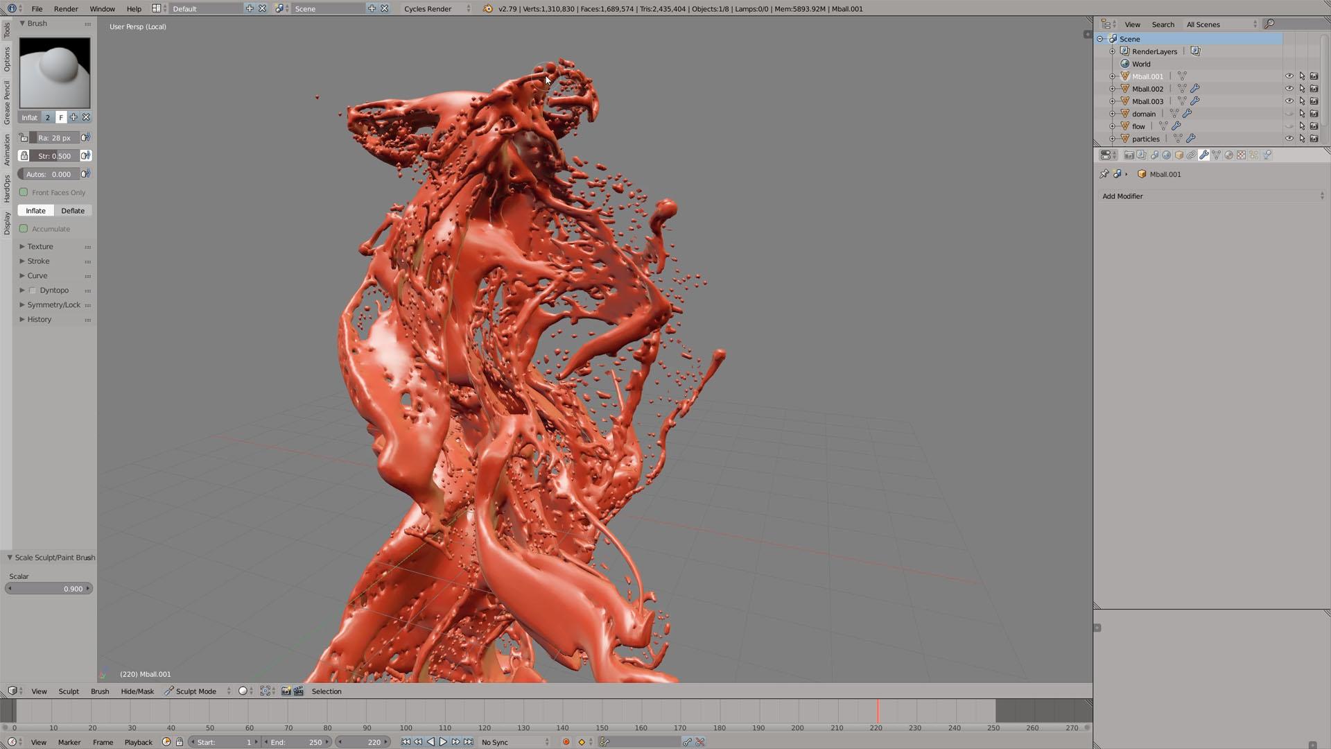 blender sculpting