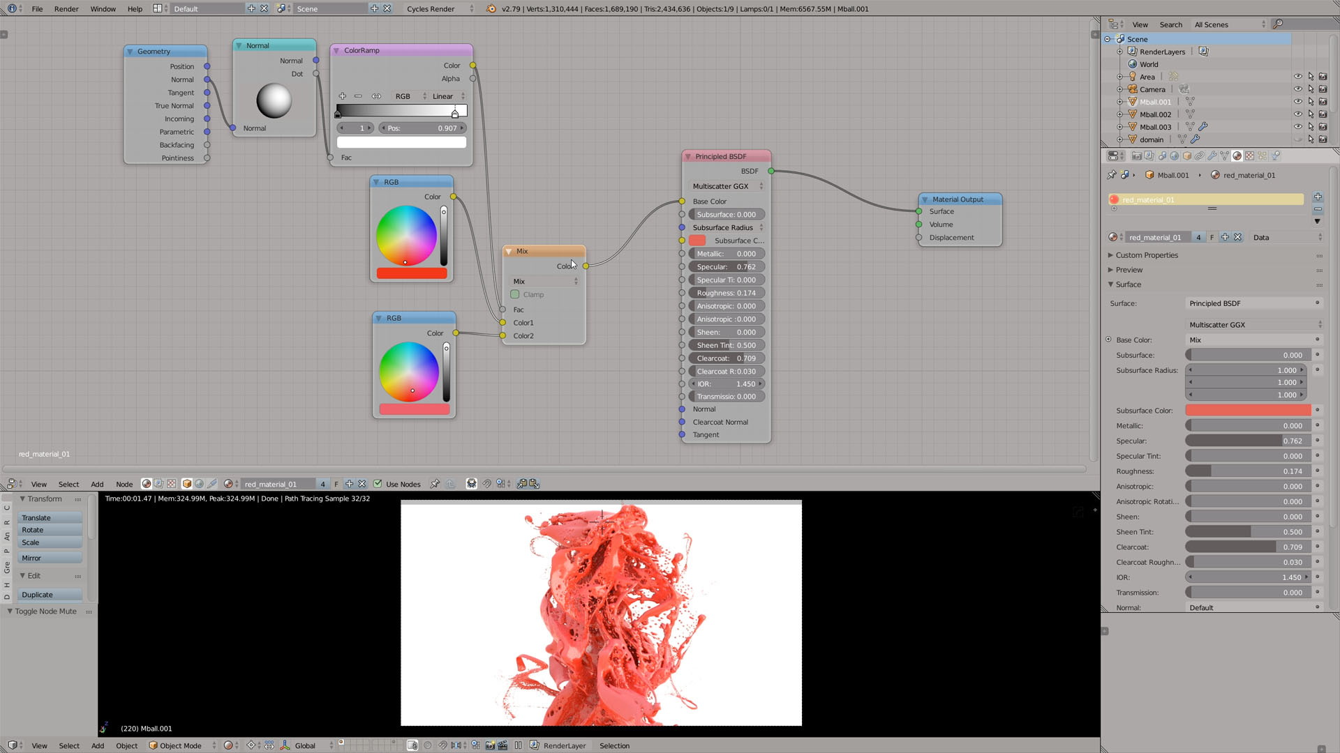 blender shaders and lighting
