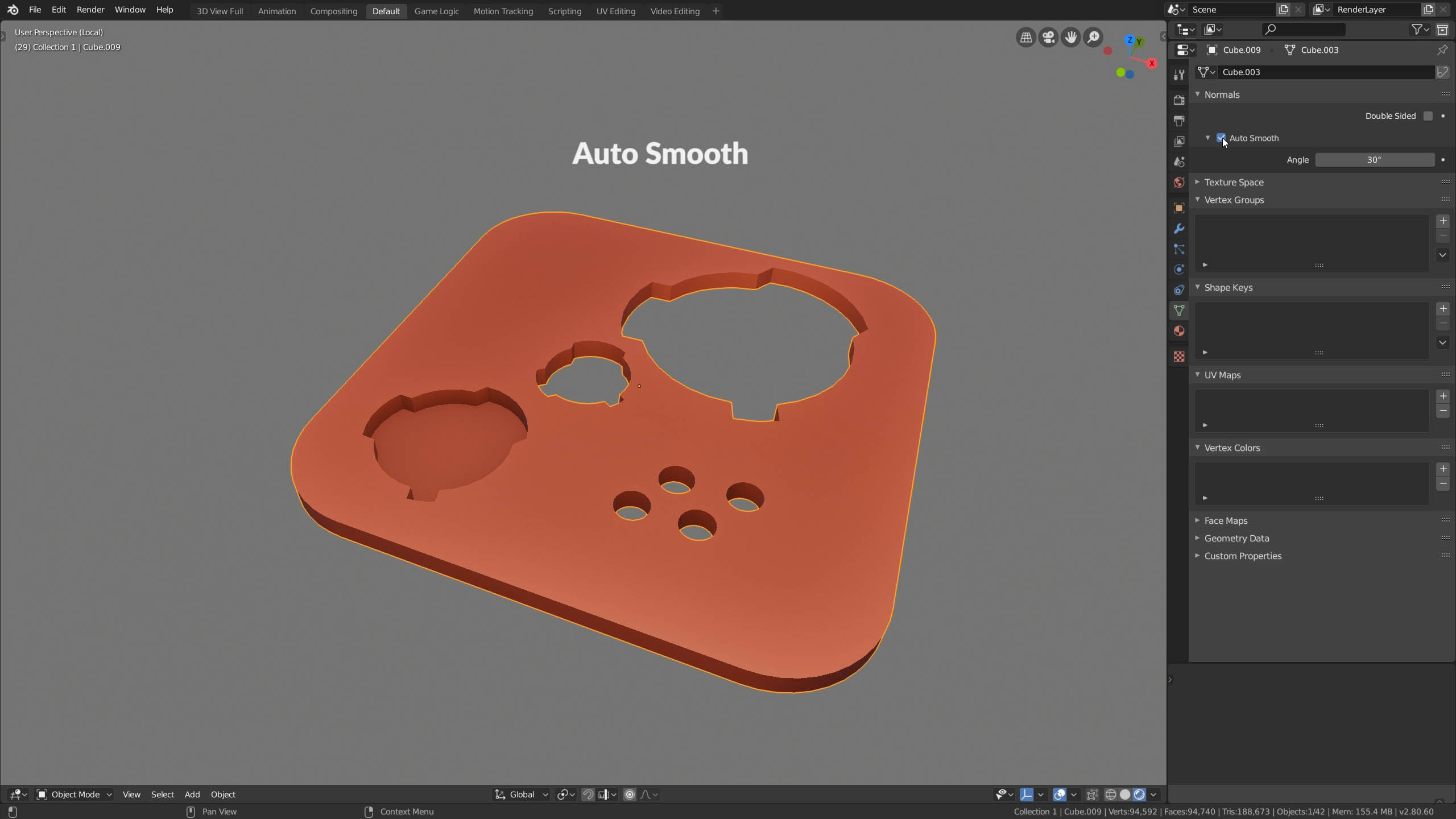 blender auto smooth