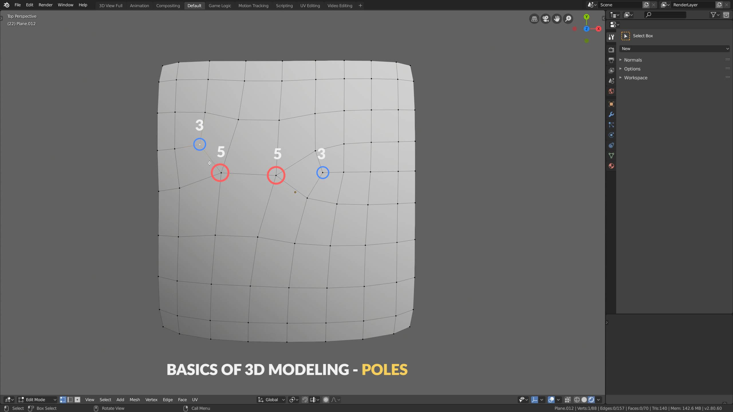 3d modeling basics poles
