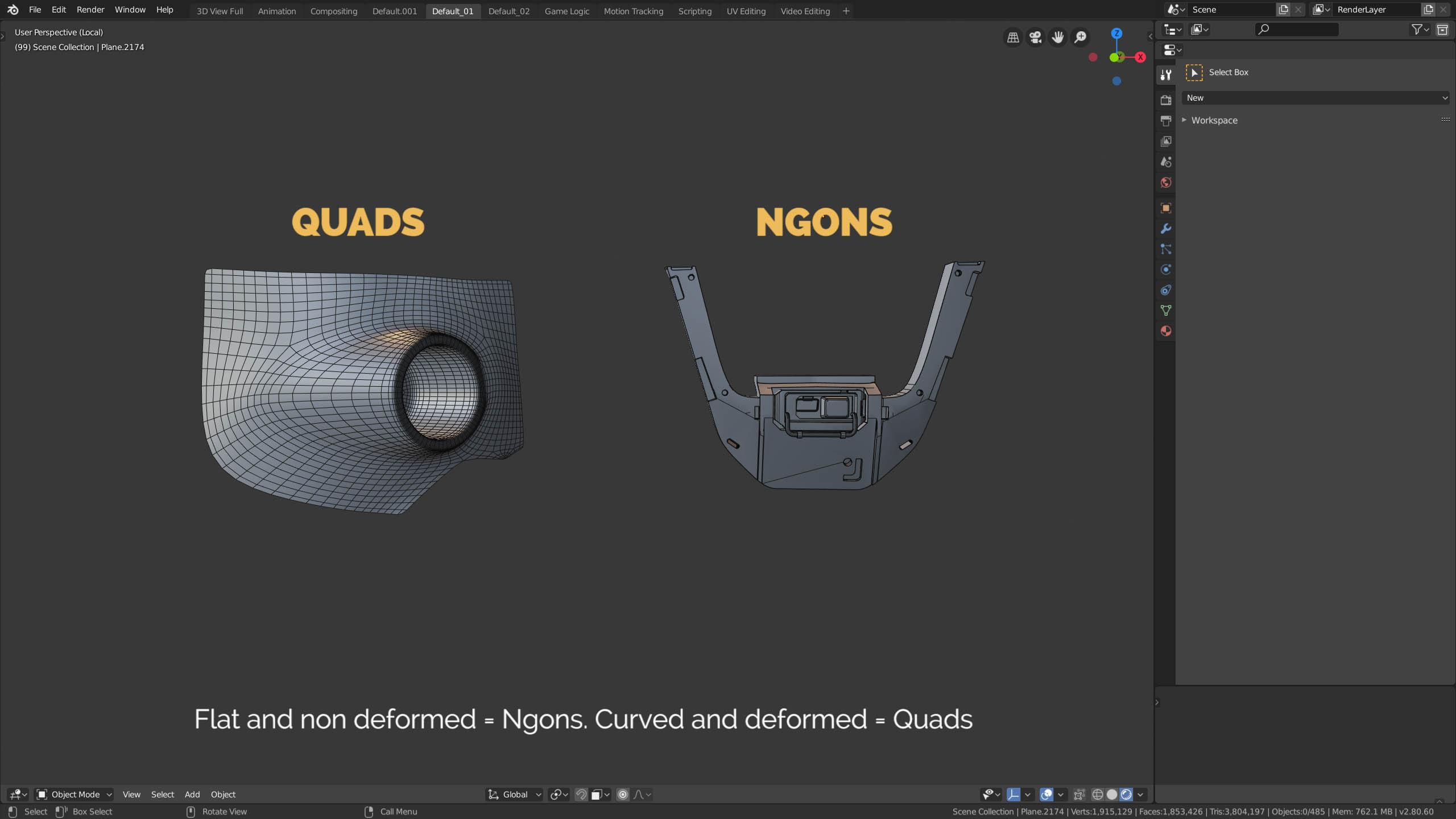 quads vs ngons