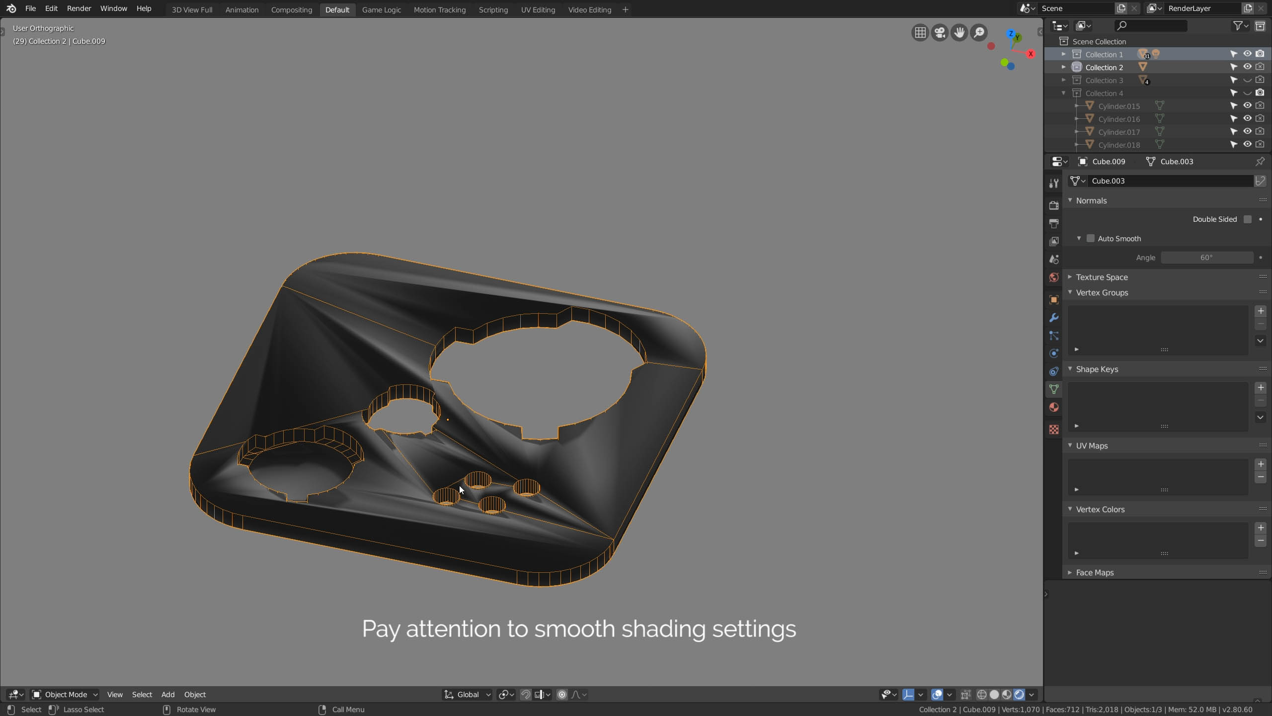 smooth shading normals
