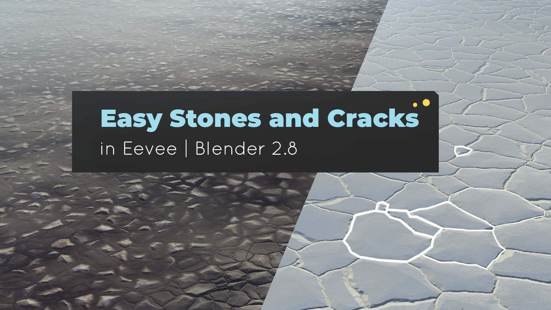Easy Stones & Cracks in Eevee | Blender 2 8 • Creative Shrimp