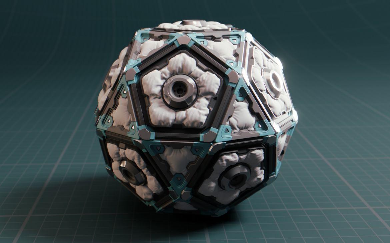 modeling sci-fi icosphere in Blender